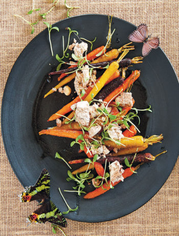 Rainbow carrot and almond nougat salad recipe