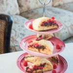 Raspberry, hazelnut and chocolate scones