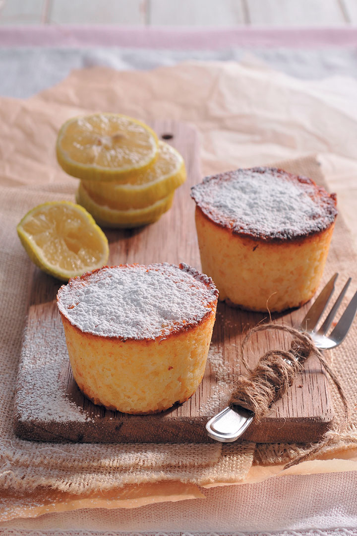 Ricotta and lemon cakes recipe