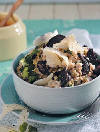 Roasted beetroot, yoghurt, herb and warm pearl barley recipe