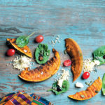 Roasted pumpkin and bulgur wheat salad