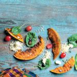 Roasted pumpkin and bulgur wheat salad