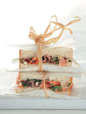Salmon, caper and mozzarella sandwich recipe