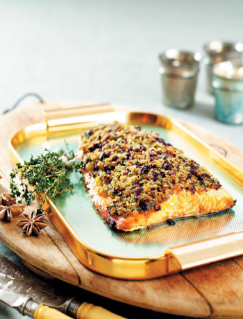 Salmon with a cranberry and thyme crust recipe