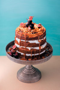 Simnebun cake with Italian meringue & caramel-chocolate sauce recipe