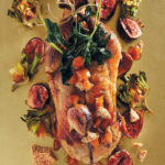 Slow-roasted duck with figs and preserved ginger