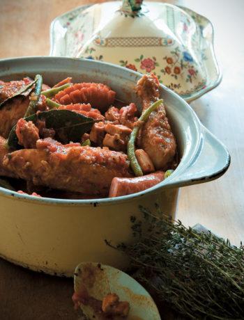 South African chicken green bean and Russian cassoulet recipe