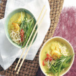 Thai prawn curry laksa
