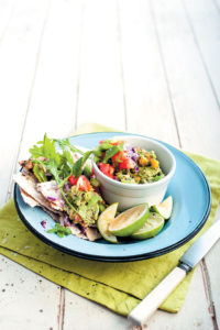 Zesty crushed avocado salsa recipe