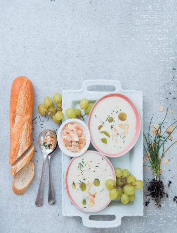 Almond gazpacho with grapes recipe
