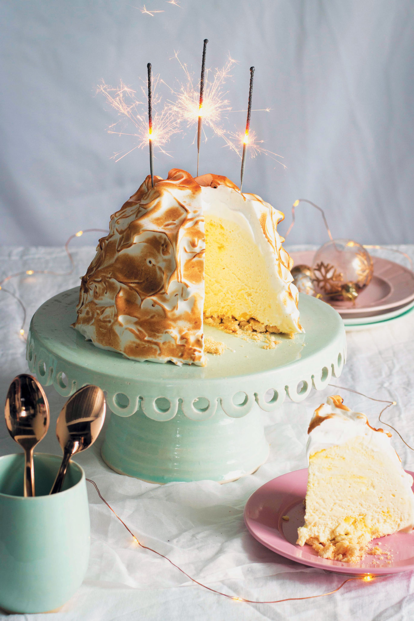 Sharing A Lemon Meringue Ice Cream Cake Recipe — Dishmaps