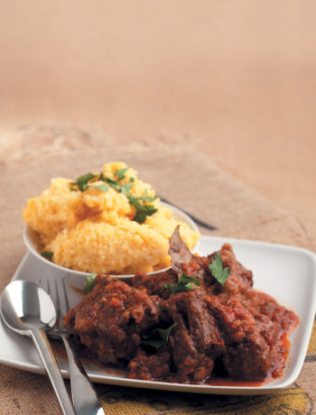 Oxtail with polenta