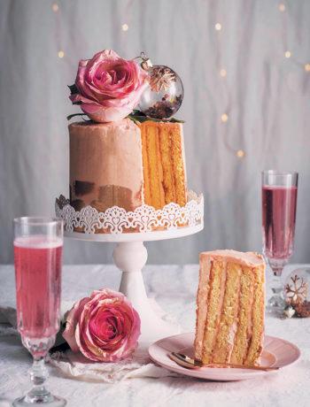 Rosé Champagne chiffon cake recipe