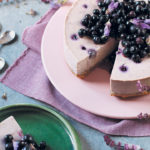Blueberry, white chocolate and lavender cheesecake