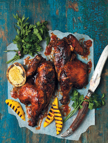 Hickory-smoked peri-peri chicken recipe