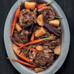 Light lamb bredie with two-tone carrots