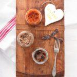 Mushroom biltong pesto & sun-dried tomato and biltong pesto