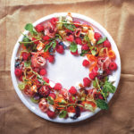 Raspberry salad wreath