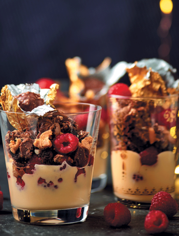 Ferrero Rocher and Marsala wine-laced raspberry trifle