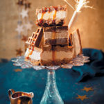 Gingerbread waffle ice-cream sandwiches with eggnog ice cream and maple syrup