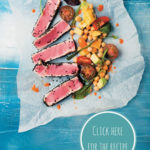 Sesame-seared tuna with rosé peri-peri salsa