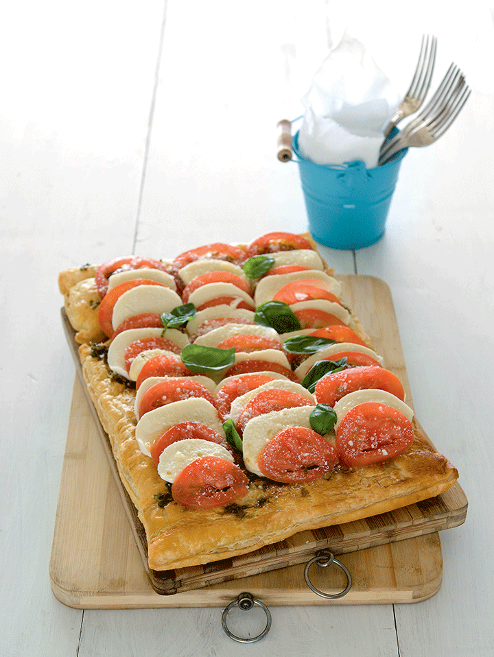 caprese tart caprese salad with a twist