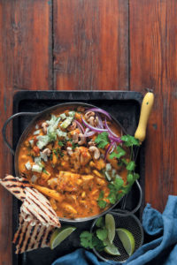 Cashew, coconut and tomato fish curry with fresh fennel salsa and chargrilled naan bread recipe