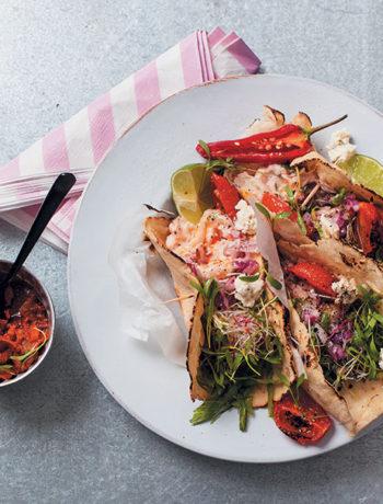 Crayfish corn tortillas