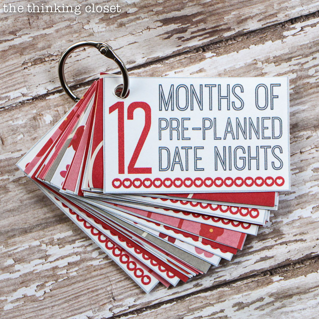 3. 12 Pre-Planned Date Nights booklet