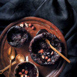 Molten self-saucing choc puddings with hazelnuts