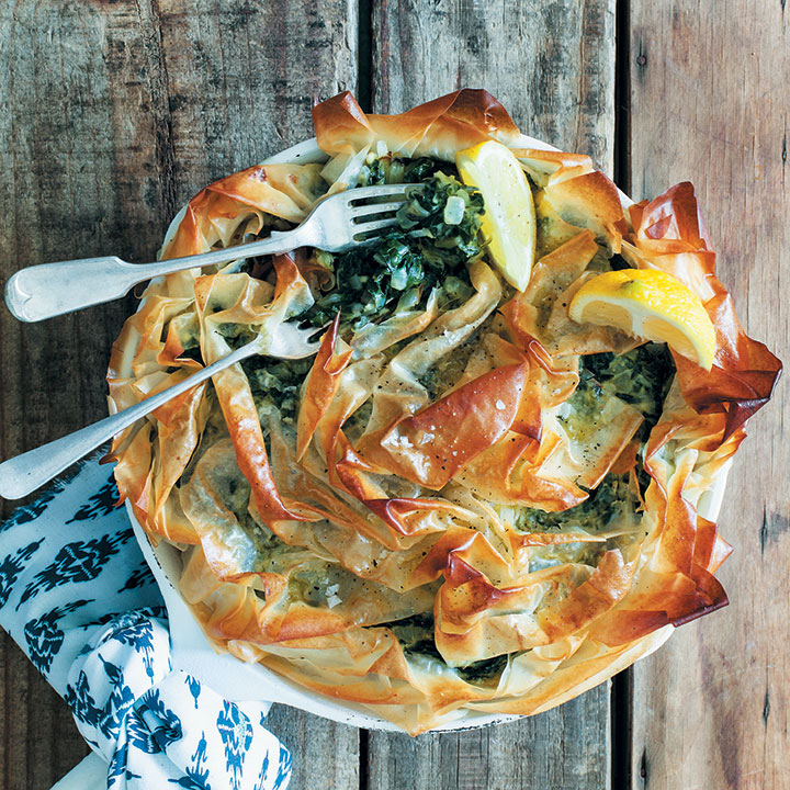 Spanakopita recipe from the gourmet greek food home click here for the recipe from food home entertaining magazine forumfinder