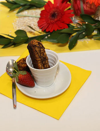 Spiced honey oat biscotti Jungle Oats