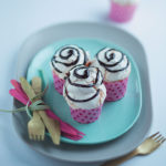 Vanilla cupcakes with Italian meringue