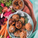 Cape Malay lamb curry croquettes with spiced apple chutney