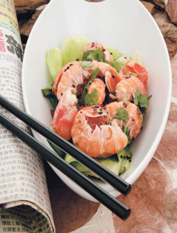 Chilli langoustine salad served with lightly pan-fried bok choy and Chinese cabbage recipe