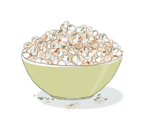 Cinnamon-rosemary popcorn