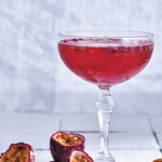 Granadilla, rose and pomegranate sparkling cocktail