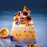 Lavender, granadilla & white-chocolate mousse cake with flower-studded honeycomb
