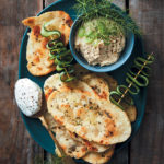Spelt flatbreads with hummus