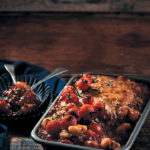 Tomato, mince and Parmesan baked gnocchi