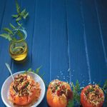 Vegetarian-stuffed tomatoes