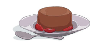 cheats chocolate panna cotta