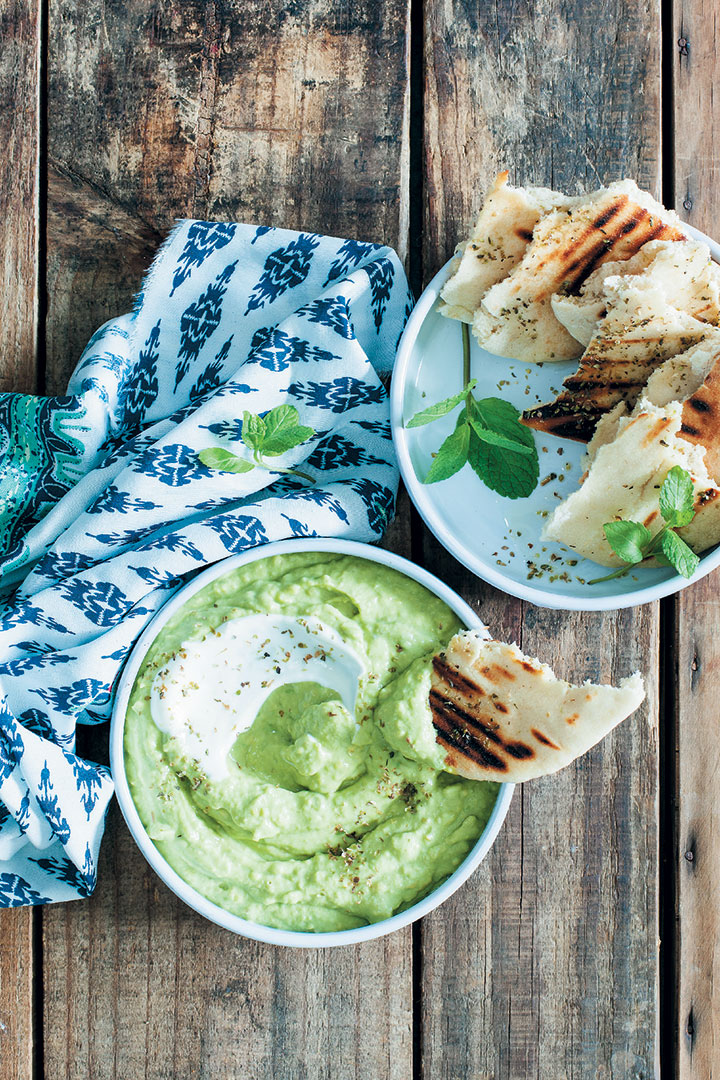 Avocado and yoghurt dip
