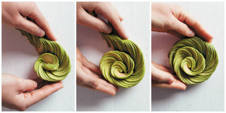 How to make avo roses