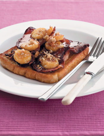 This quick and easy French toast with all the trimmings is a quick, no-fuss breakfast that, with a few extra ingredients, is bound to impress.