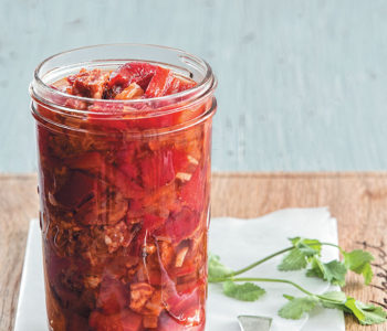 Red pepper, choriza and chilli pickle recipe