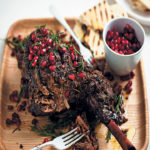 Slow-roasted Easter leg of lamb with pomegranate and rosemary