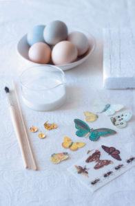 Sticker decal eggs