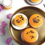 Yoghurt panna cotta with mango and granadilla jelly