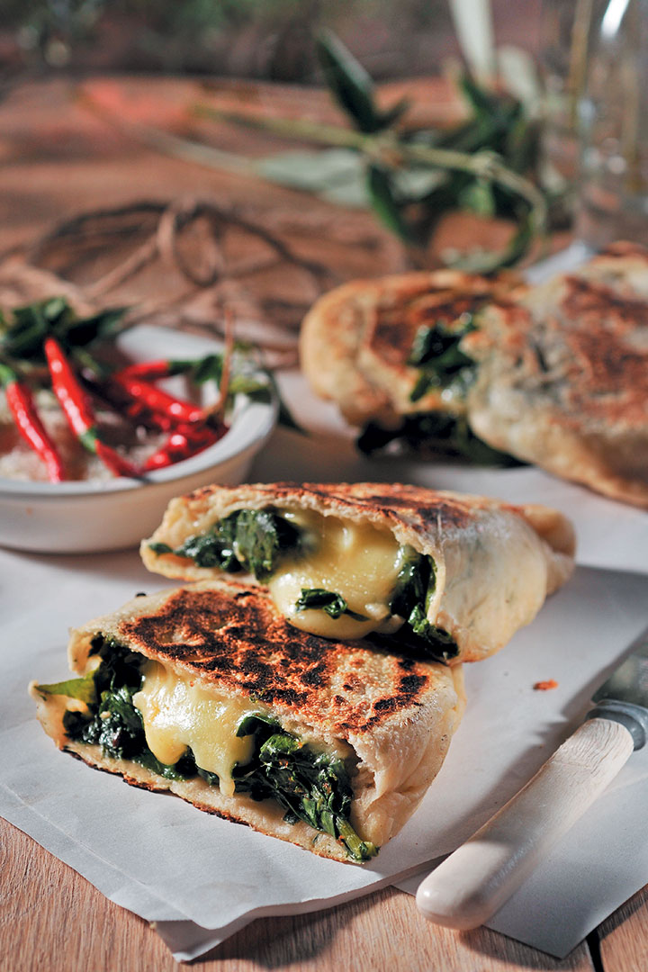 Calzone stuffed with spinach and smoked mozzarella | Food & Home ...